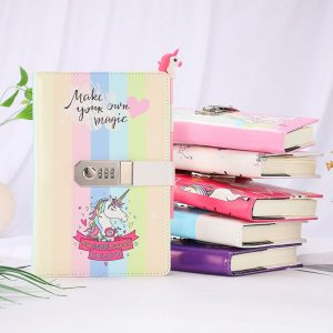 Unicorn Notebook Diary With Password Lock