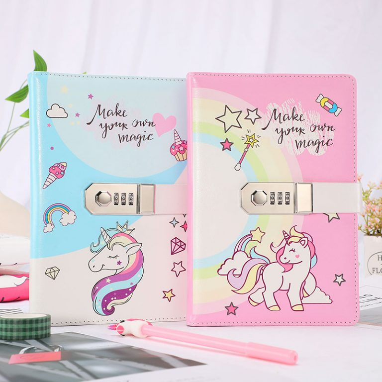 Unicorn Notebook Diary With Password Lock