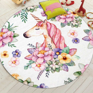 Cute Unicorn Round Mat