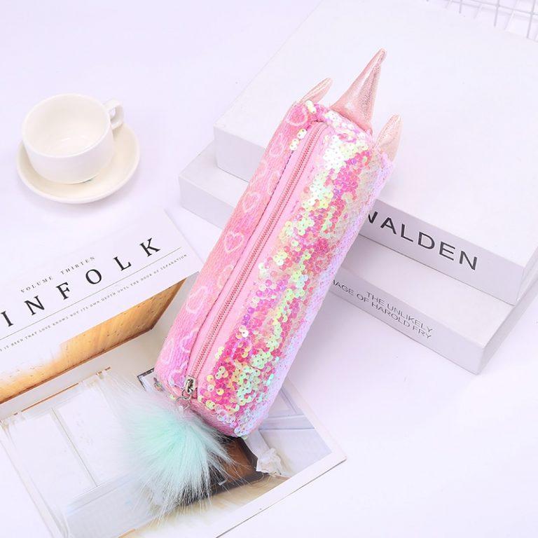 Sequin Unicorn Pencil Case