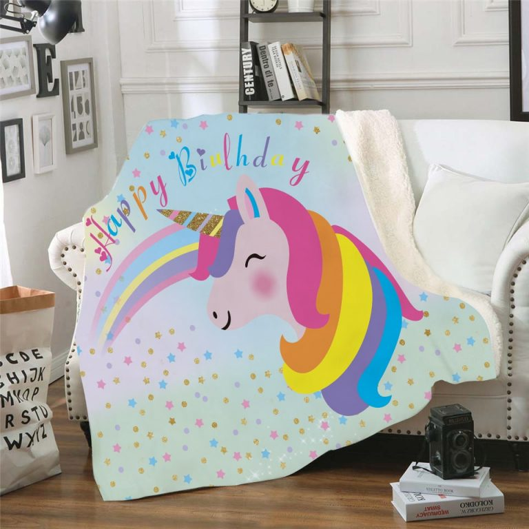 Unicorn Fleece Throw Blanket