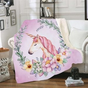 Unicorn Fleece Throw Blanket