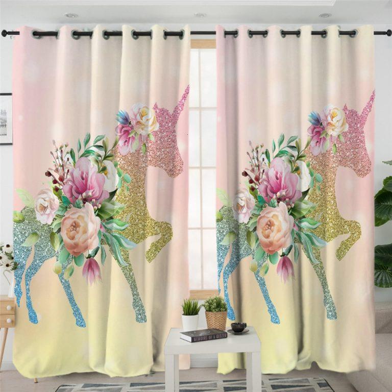Cute Unicorn Curtain