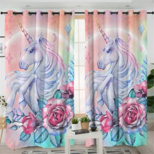 Cute Unicorn Curtain