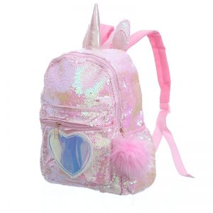 Unicorn Gorgeous Sequin Heart Backpack