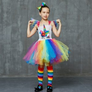 Set of Unicorn Rainbow Tutu Dress