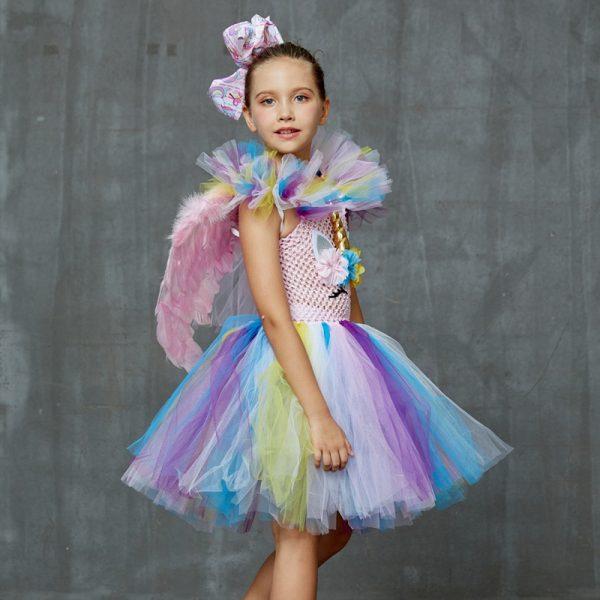 Pastel Rainbow Unicorn Tutu Dress