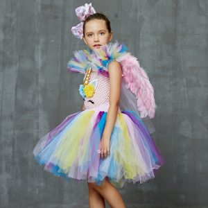 Pastel Rainbow Unicorn Tutu Dress
