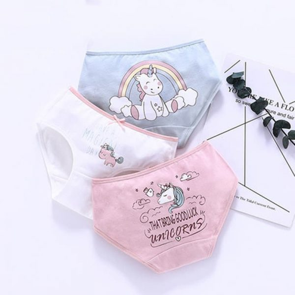 3pcs/set Unicorn Panties For Girls