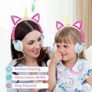 LED Glowing Unicorn Headphones