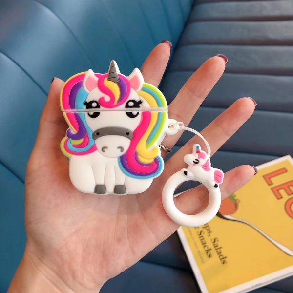 Unicorn With Rainbow Mane Airpods Case