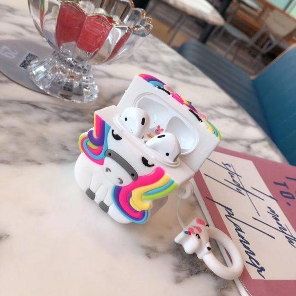 Unicorn With Rainbow Mane Airpods Case