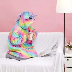 Colorful Rainbow Unicorn Hoodie