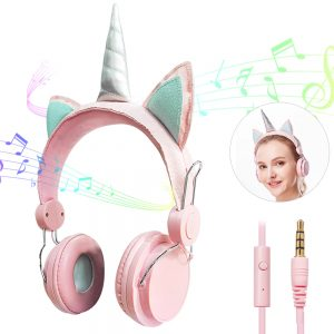 Baby Pink & Mint Unicorn Headphones/Headset/Earphones