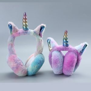 Warm Rainbow Unicorn Earmuffs