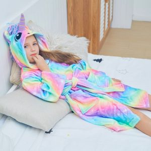 Holographic Unicorn Bathrobes