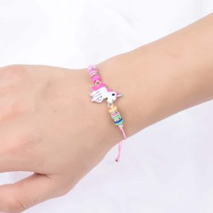 Lovely Pink Adjustable Unicorn Bracelet