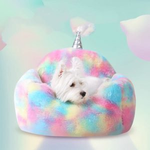 Holographic Cozy Unicorn Bed For Pets