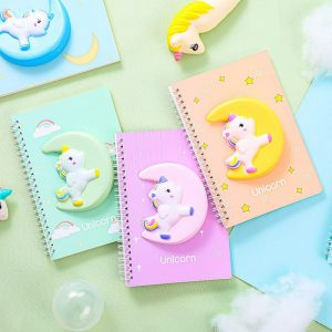 Unicorn 3D Squishy Notebook