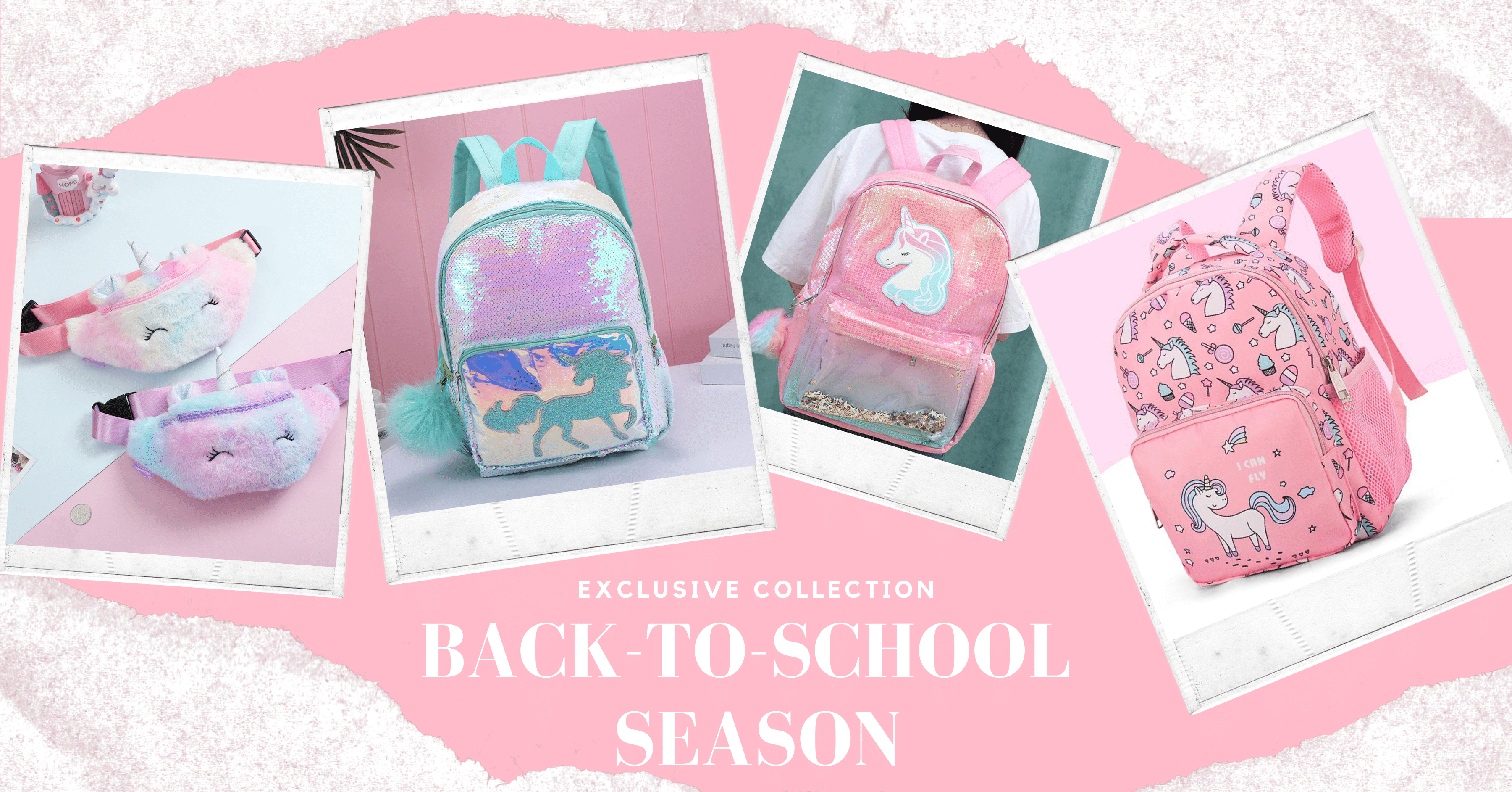 BACK-TO-SCHOOL BACKPACKS WITH THE UNICORN INSPIRATIONAL SPIRIT