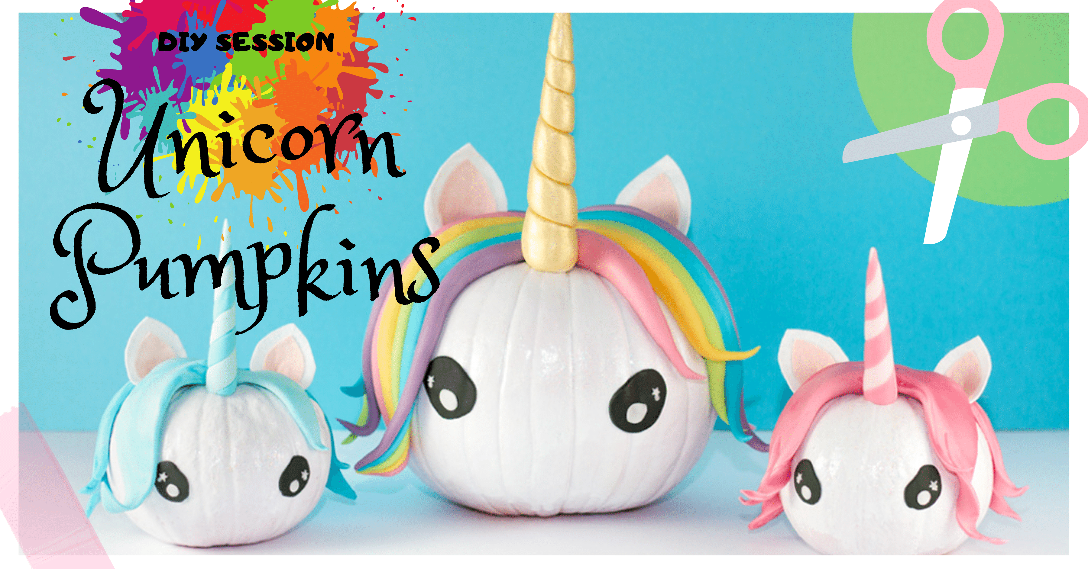 HOW TO MAKE A UNICORN PUMPKIN FOR HALLOWEEN