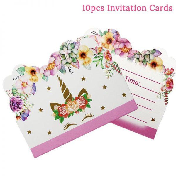 Unicorn Invitation Cards