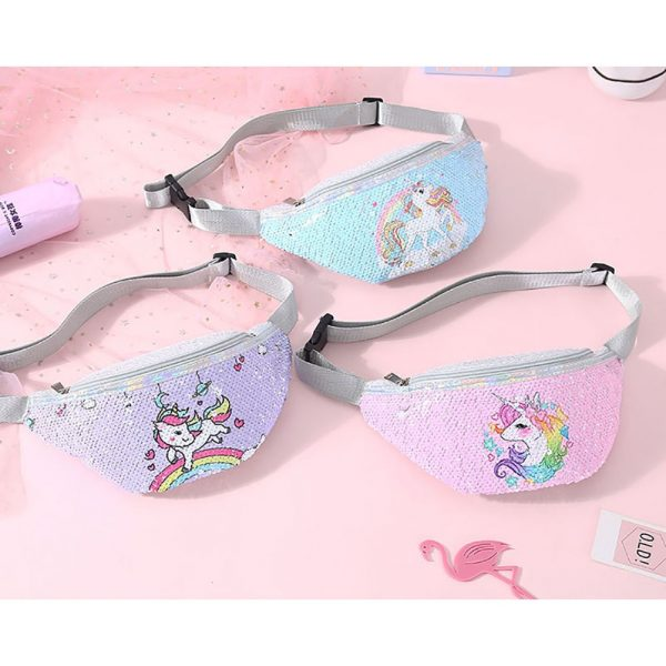 Reversible Sequins Unicorn Waist Bag