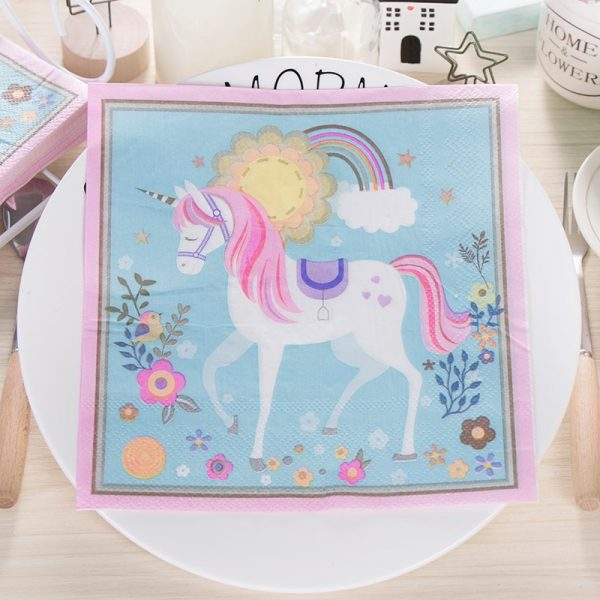 Colorful Unicorn Tissue Napkins Pack (20Pcs)
