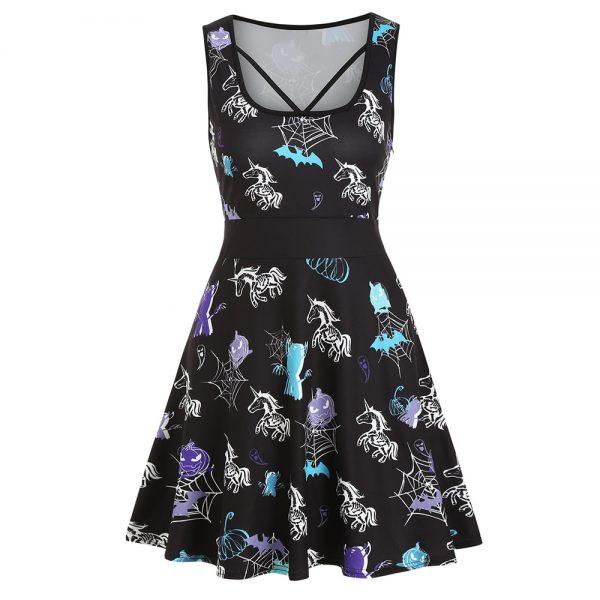 Spooky Unicorn Halloween Dress