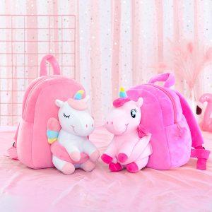 3D Stuffed Unicorn School bag