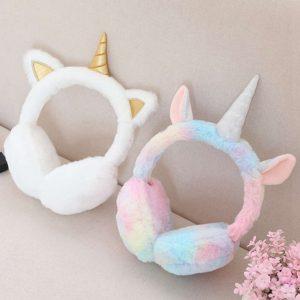 Unicorn Adorable Plush Earmuffs