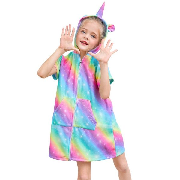 Holographic Rainbow Unicorn Dress