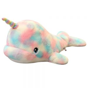 Colorful Narwhal Unicorn Plush Toy