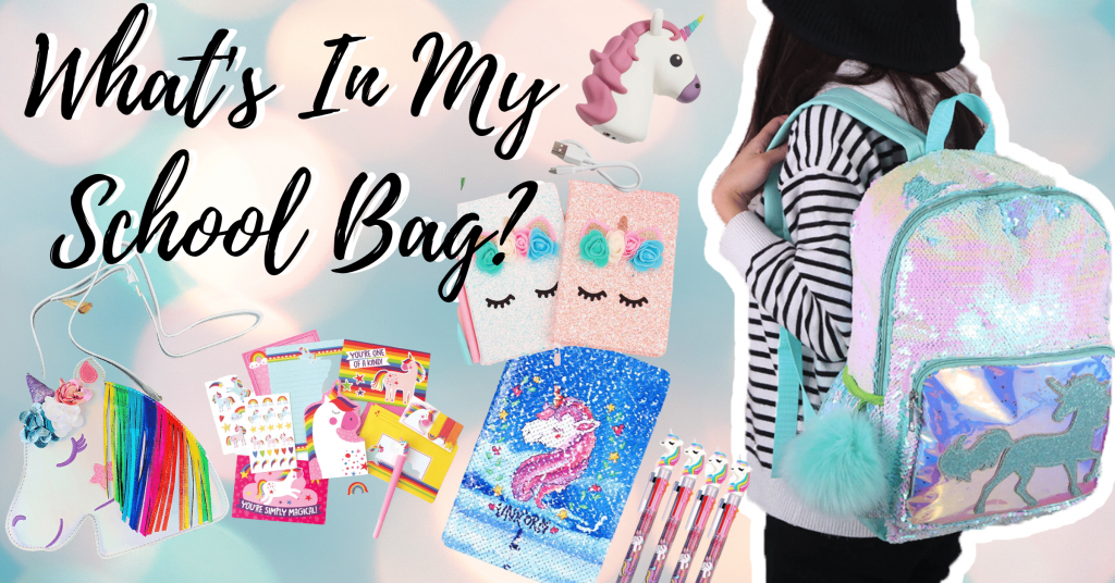 HOW TO PACK A UNICORN SCHOOL BAG?