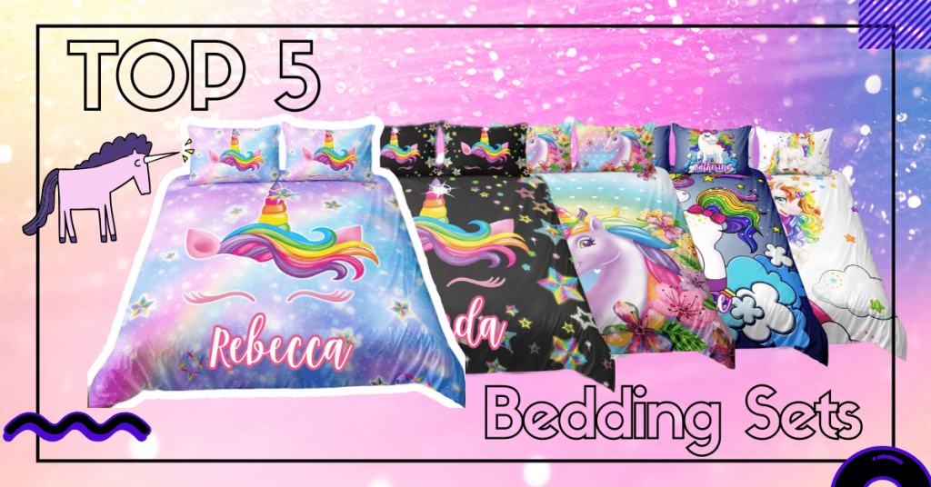 TOP 5 Unicorn Bedding Sets Lighten Up Your Whole Room