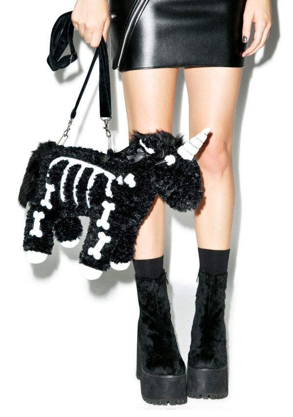 Unicorn Skeleton Gothic Shoulder Bag