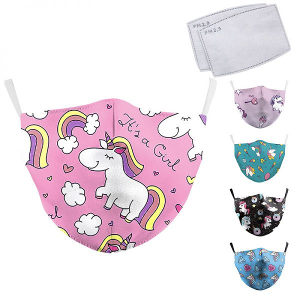 PM2.5 Reusable Unicorn Masks