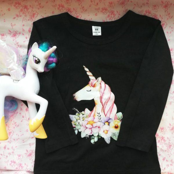 Floral Unicorn Long Sleeve T-shirt