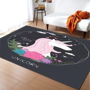 Anti-slip Unicorn Carpet For Kids Room