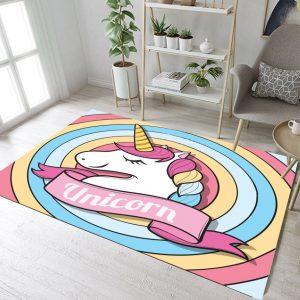 Unicorn Rainbow Rugs And Carpets