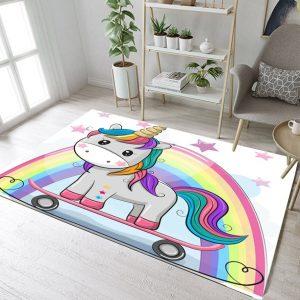 Kids Unicorn Rainbow Rugs And Carpets