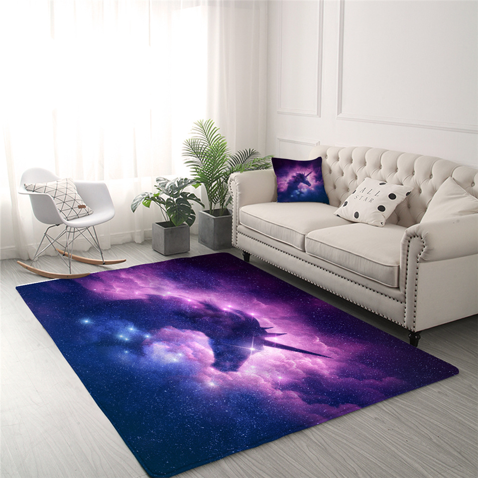Galaxy Unicorn Rug For Kids Room