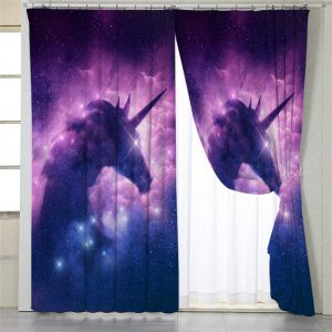 Galaxy Unicorn Curtain