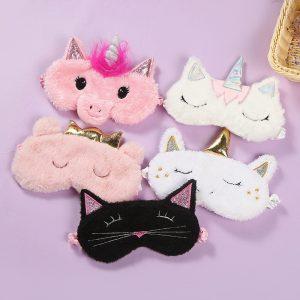 Plush Unicorn Eye Sleeping Masks