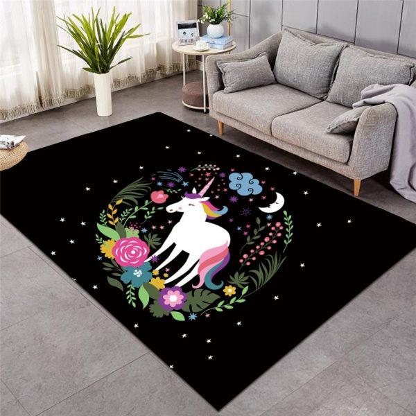 Neon Unicorn Large Carpets for Living Room