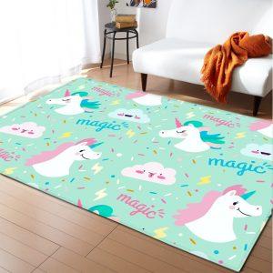 Rainbow Unicorn Rugs For Bedroom