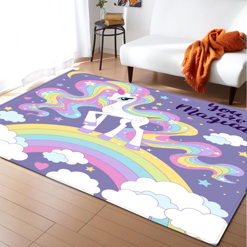 Rainbow Unicorn Rugs For Bedroom   Unilovers