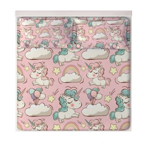 Flowers Unicorn Fitted Sheets