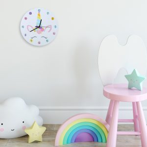 Wood Unicorn Wall Clock For Children Room