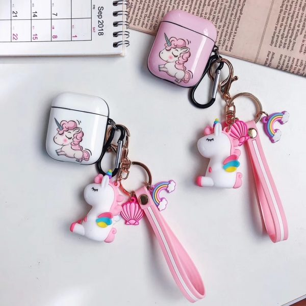 Unicorn Airpods Cases With Hanging Ornament